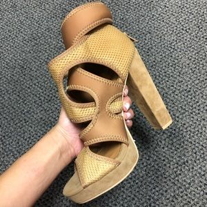 NWT Nude Strappy Comfy High Heels